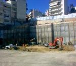 Αντιστήριξη πρανών εκσκαφής (Σκλαβενίτης υπό κατασκευή, λεωφ. Φυλής, Καματερό)