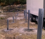 Foundation works for the construction of a photovoltaic park in Kalamata