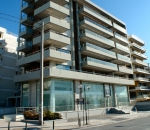 View of building at Possidonos Av., in Palaio Faliro (retaining structures)