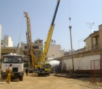 Retaining structures for the construction of a Sklavenitis supermarket (25th Martiou str., Nikea)